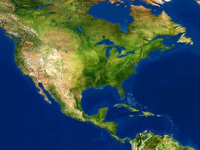 Satellite Map Of Us - Satellite map of us